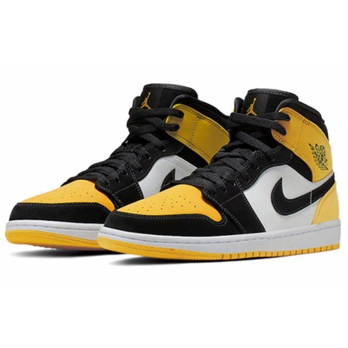 "Basket Air Jordan 1 Mid SE ""Yellow Toe"" Chaussure de Sport AJ 1 ..."