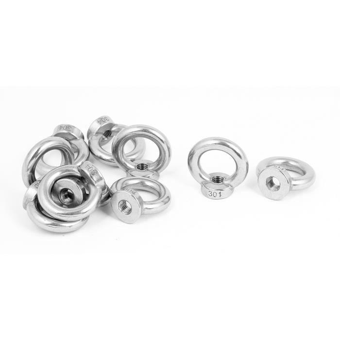 Filetage femelle M5 Métal marines écrous anneau levage 5pcs anneau