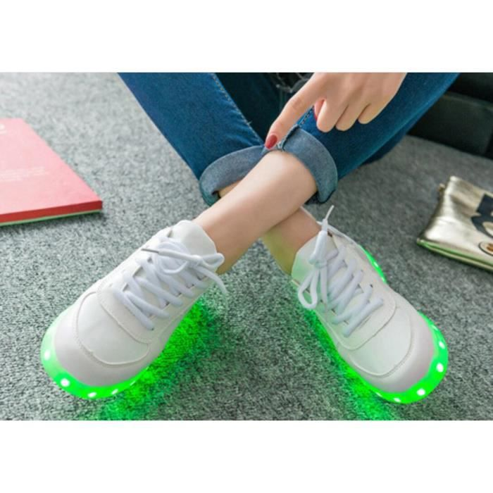 Unisexe Colorful Led Lumi re Usb Chargeur Chaussures 8gQw5B9li