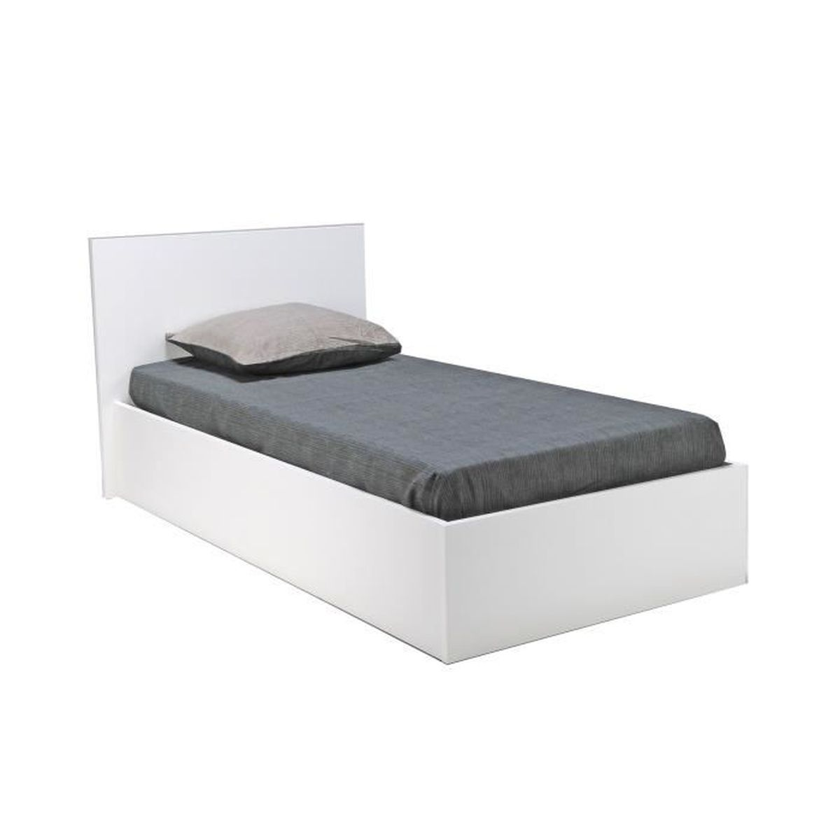 lit 180x200 avec sommier et matelas lit 2 personnes pas. Black Bedroom Furniture Sets. Home Design Ideas