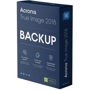 BUREAUTIQUE Acronis True Image 2018 Licence 3 ordinateurs télé