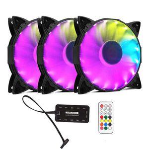 VENTILATION  120mm Ventilateur Ordinateur - RGB LED Lumière - R