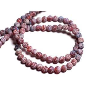 Agate Rouge Orange Boules 10mm   4558550025340 6pc Perles de Pierre