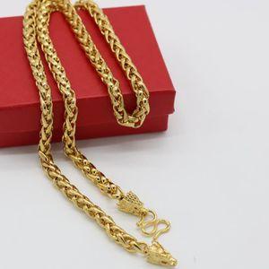 CHAINE DE COU SEULE dragon desigh byzantin chaîne 18k jaune plaqué or