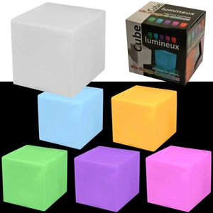 lampe cube lumineux achat vente pas cher. Black Bedroom Furniture Sets. Home Design Ideas