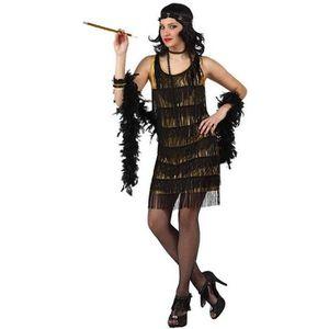 DÉGUISEMENT - PANOPLIE Déguisement danseuse de cabaret doré taille M/L
