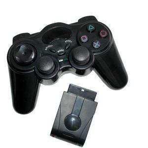 MANETTE JEUX VIDÉO Manette de jeux Ps2 sans fil noire (2.4Ghz)