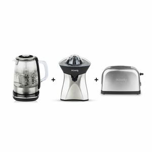 LOT APPAREIL PETIT DEJ ENSEMBLE PETIT DEJEUNER TOASTEUR MACHINE A THE PRE