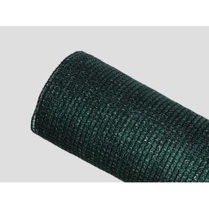 CLÔTURE - GRILLAGE Brise-vue 85% - Vert-Noir - 130g-m² Vert-Noir 2m x