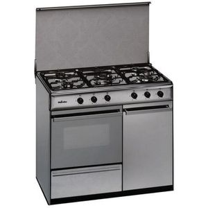 CUISINIÈRE - PIANO Cuisinière au gaz butane Meireles 90 cm 114 L Inox