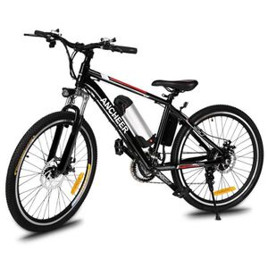 VÉLO ASSISTANCE ÉLEC ANCHEER vélo électrique de montagne 26