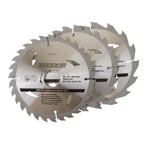 3 lames de scie circulaire 190 mm diamètre 30 mm alésage Trou 20 mm /& 25 mm Anneaux Mitre Chop
