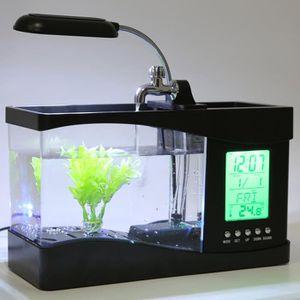 AQUARIUM bocal à poissons USB Desktop Mini réservoir de poi