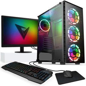 UNITÉ CENTRALE + ÉCRAN Vibox AX-2 PC Gamer avec 2 Jeux Gratuits, Win 10 P