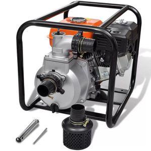 POMPE À EAU CAMPING vidaXL Pompe à eau à moteur à essence 50 mm Connex
