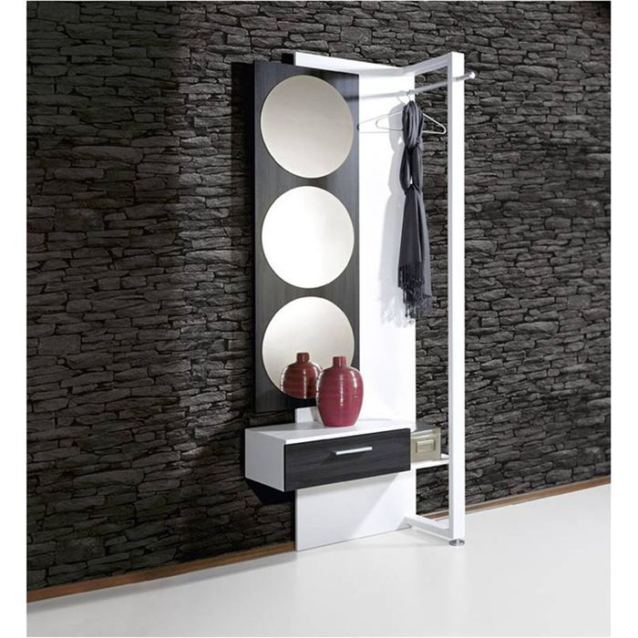 vestiaire complet achat vente meuble d 39 entr e vestiaire complet fr ne carbon cdiscount. Black Bedroom Furniture Sets. Home Design Ideas