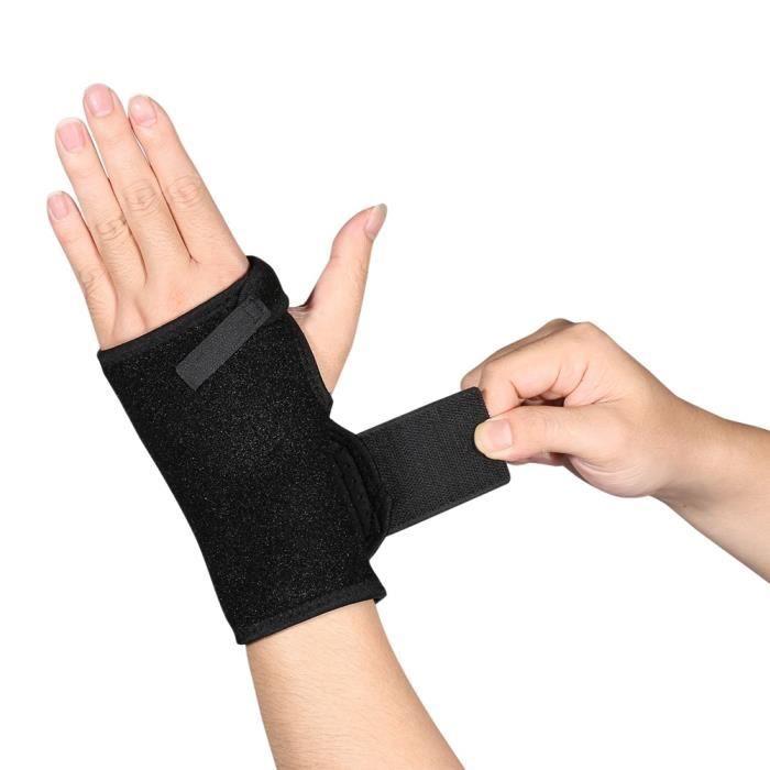 Orthèse de poignet élastique Idéale pour les entorses et foulures Attelle Réglable-GXU