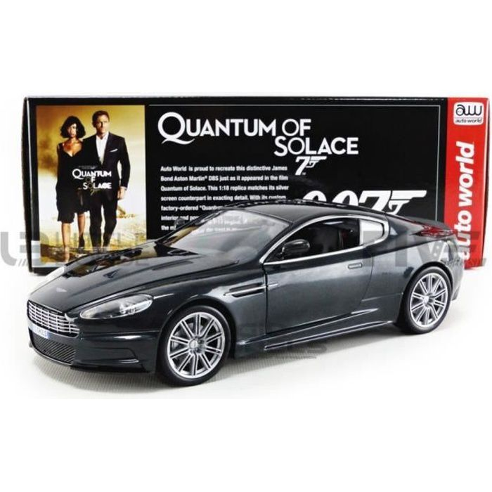Voiture Miniature de Collection - AUTO WORLD 1/18 - ASTON MARTIN DBS - James Bond - Quantum of Solace - Black - AWSS123