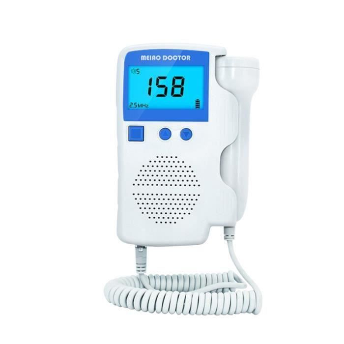 3.0 MHZ Pocket Doppler Fœtal Détecteur de Fréquence Cardiaque Fœtale LCD Affichage Maison Enceinte Bébé BABY PHONE - ECOUTE BEBE