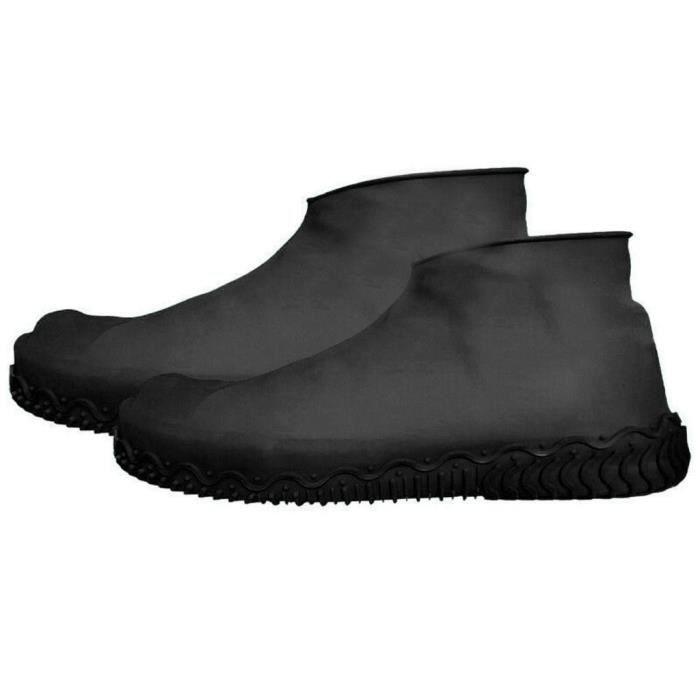 Couvre chaussures en Silicone couvre chaussures imperméables de pluie couvre bottes protecteur chaussures de pluie - Type Black L