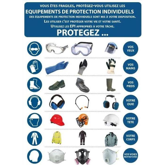 Panneau obligatoire EPI - PVC A4 - Signalisation de securite Ref: AFOB04