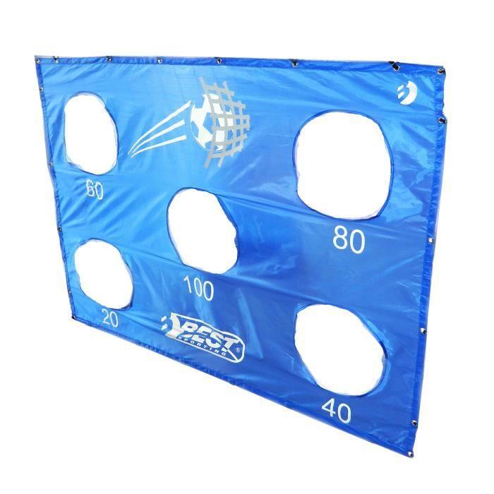 Meilleur but sportif - mur de but bleu avec 5 trous - 11095