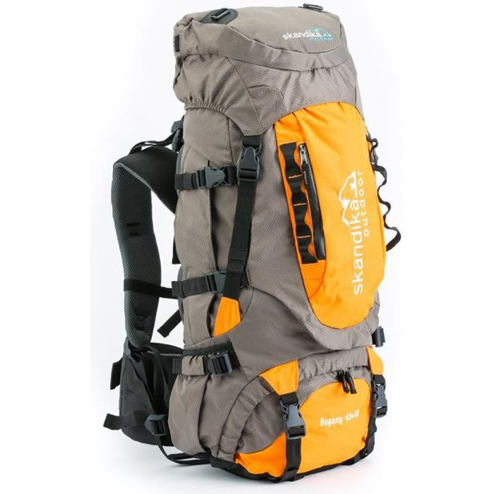 skandika Bogong 45+10 - Sac à dos trekking randonnée - gris-orange