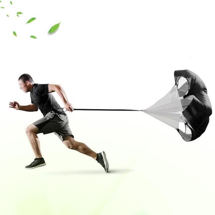 Parapluie de résistance pour entraînement de vitesse, Parachute pour course, goute, Football, entraînement [44BE848]