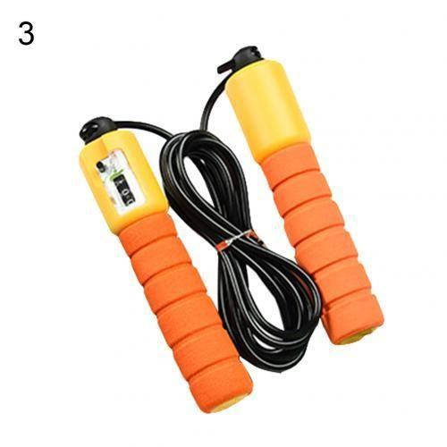 Corde à sauter électronique réglable exercice aérobique compteur électronique Fitness Sport comptag - Modèle: Orange - HSJSTSA06733