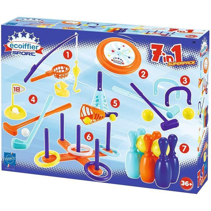 JOUET DE PLAGE Jouets 189 Pack 7 jeux d'adresse – Jeux de plein air pour enfants – Des 3 ans – Fabrique en France640