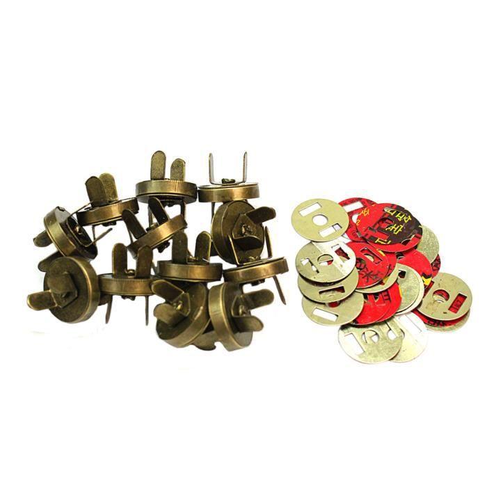 12 Sets Fermoirs Magnétique Aimant Rond pr Sac Couture Bourse Attache Dia.18mm