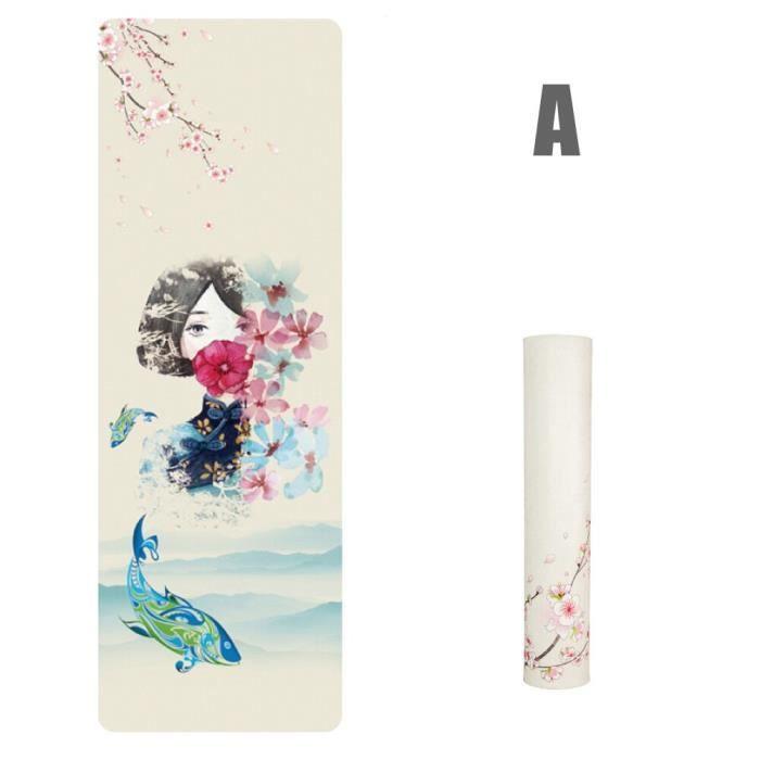 Tapis de Yoga imprimé antidérapant, tapis de Sport inodore, pour Fitness, Pilates, pour femmes et hommes, Health99~ JM85430135