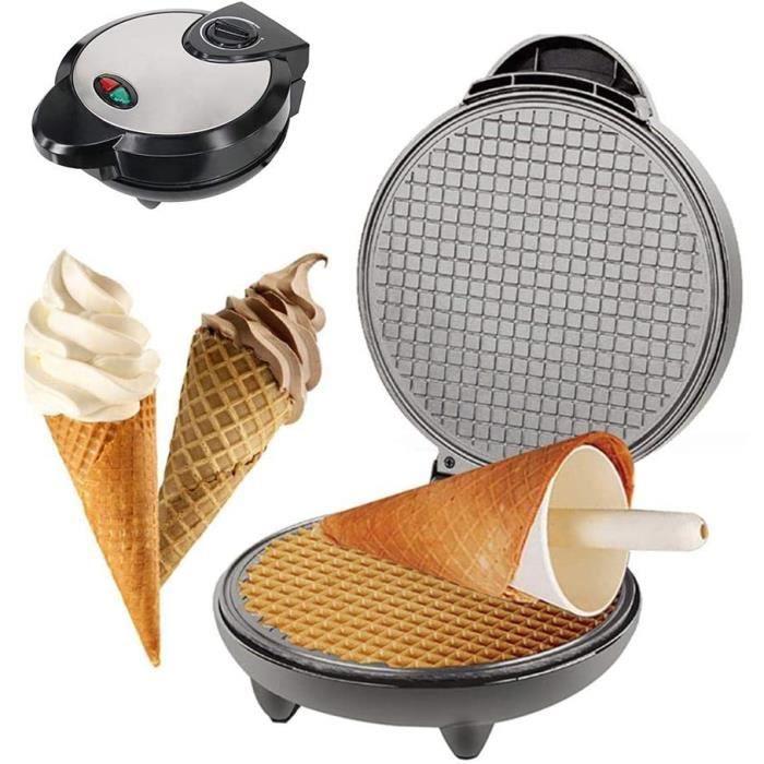 Mini machine à griller électrique pour gaufrier, machine à fer à repasser à cornet de crème glacée faite maison, rouleaux à oeufs an