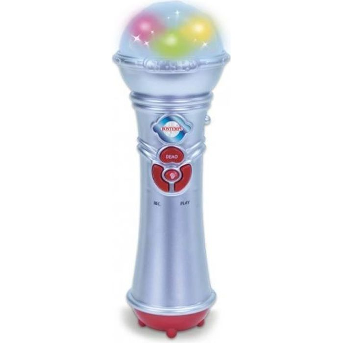 Bontempi Microphone jouet Argenté