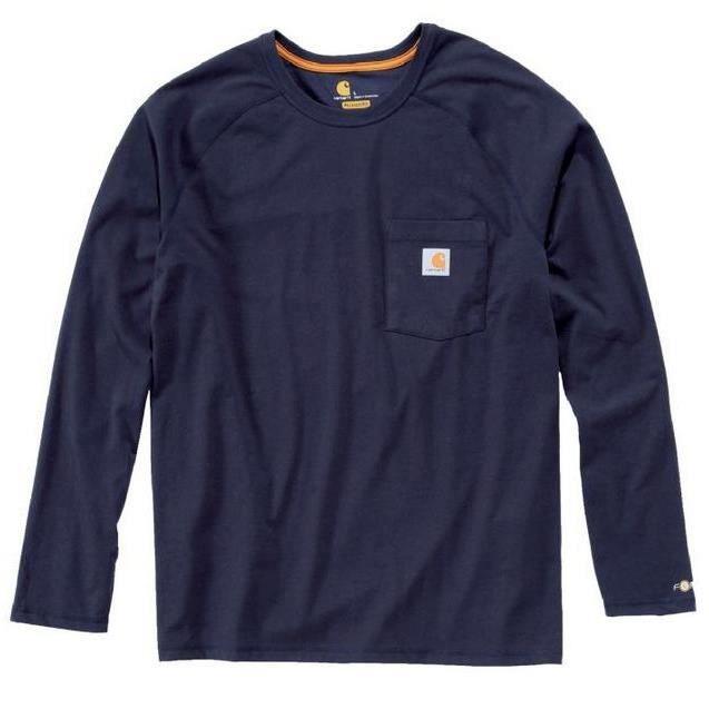 Carhartt - T-Shirt Force manches longues bleu M
