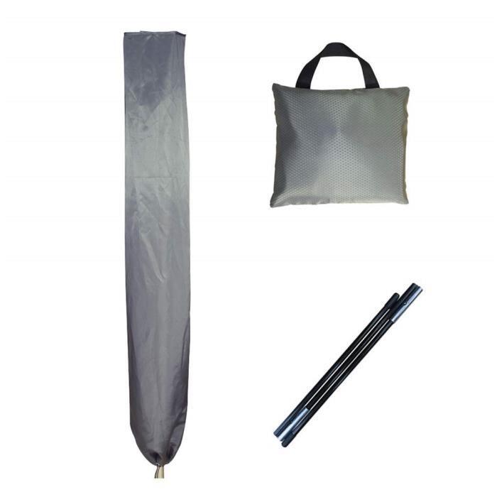 Housse de Protection pour Séchoirs Parapluie, 16*16*180cm,Jacquard Oxford,Universelle Couvercle de la Ligne de Lavage Rotative,Gris