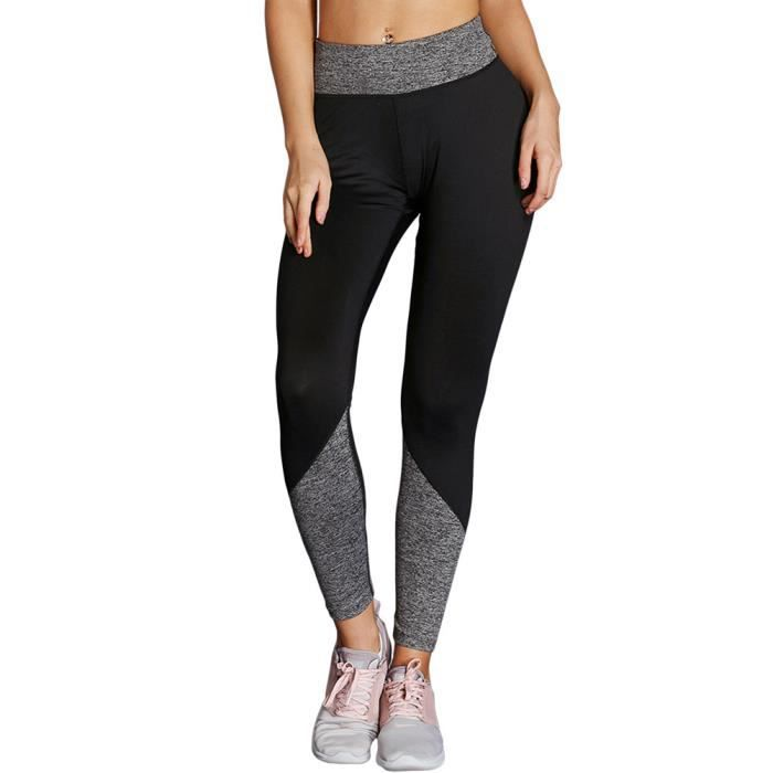 Legging Femmes Sport Jogging Yoga Fitness Séchage Rapide Noir