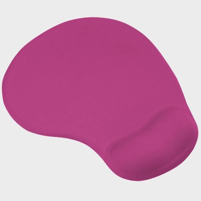 TRIXES Tapis de Souris Rose Vif avec Repose-Poignet Confortable à Gel pour PC et Ordinateur Portable