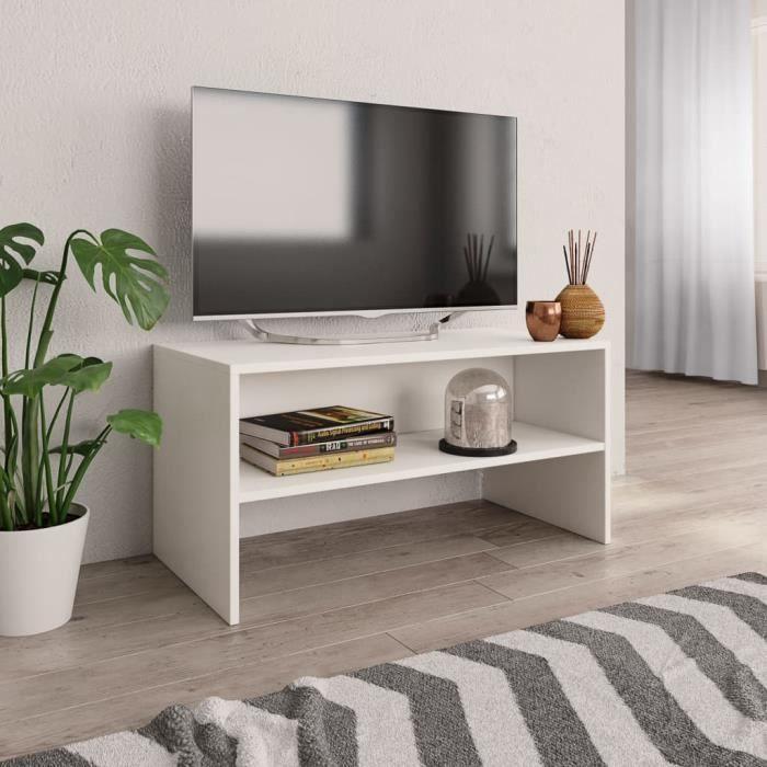vidaXL Meuble TV Blanc 80 * 40 * 40 cm Aggloméré