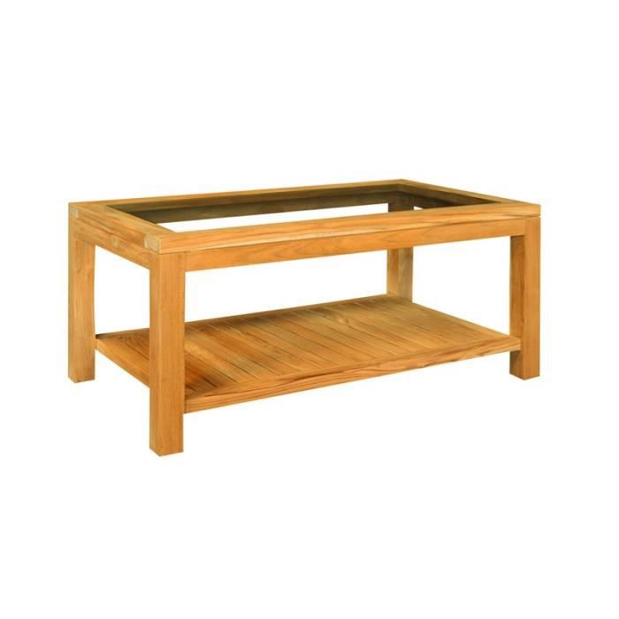 Table basse vitr e rectangulaire oslo 100 achat vente - Table basse vitree ...