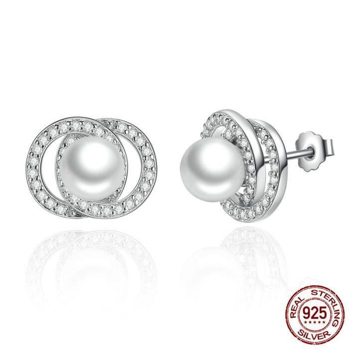 Clous D/'Oreilles Ronde De Perles Clous D/'Oreilles Pour Femmes Fashion Jewelry Cadeaux Élégant