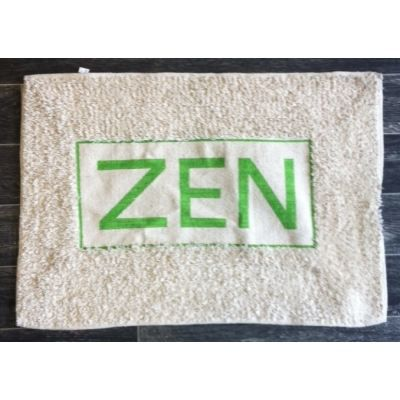 tapis salle de bain zen couleur vert achat vente tapis bain cdiscount. Black Bedroom Furniture Sets. Home Design Ideas