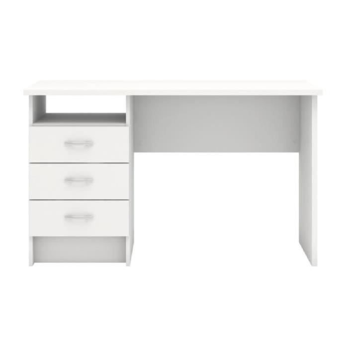 function bureau contemporain blanc l 120 1 cm achat vente bureau function plus bureau 3. Black Bedroom Furniture Sets. Home Design Ideas