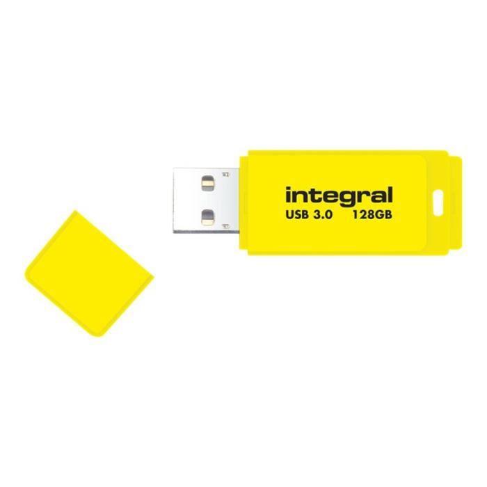DISQUE DUR SSD Integral Neon Clé USB 128 Go USB 3.0 jaune