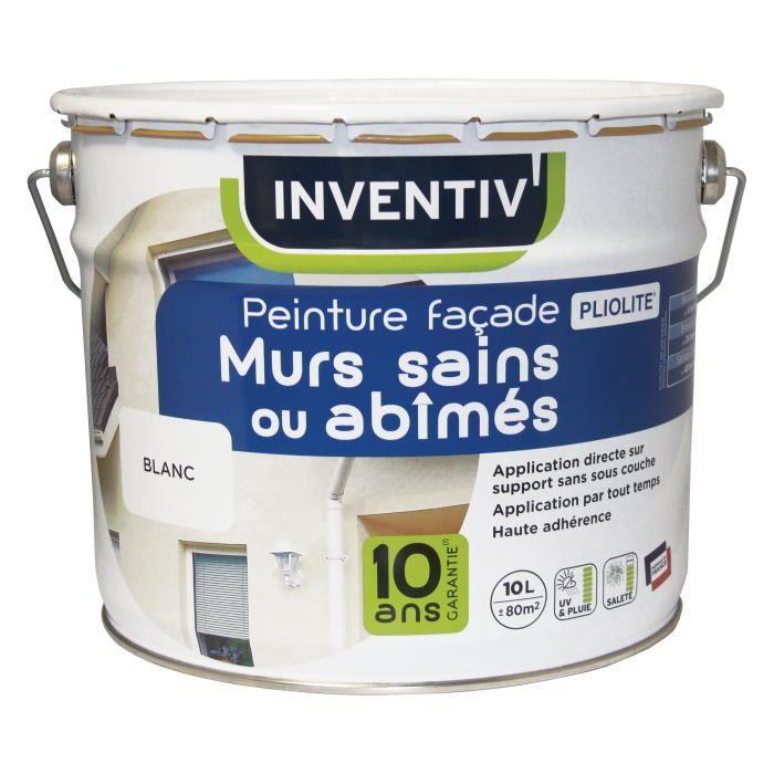 Peinture Façade Murs Sains Ou Abîmés Blanc 10 L