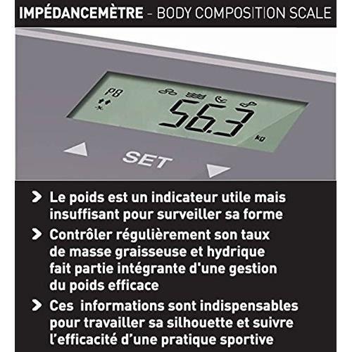 4 /Électrodes Imp/édancem/ètre Marche//Arr/êt Automatique Scan Terraillon P/èse Personne /Électronique Marron Glac/é Mode Athl/ète 8 M/émoires Utilisateurs 160kg
