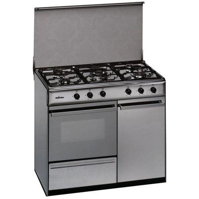 Cuisiniere Au Gaz Butane Meireles 90 Cm 114 L Inox Blanc Achat Vente Cuisiniere Piano Cdiscount