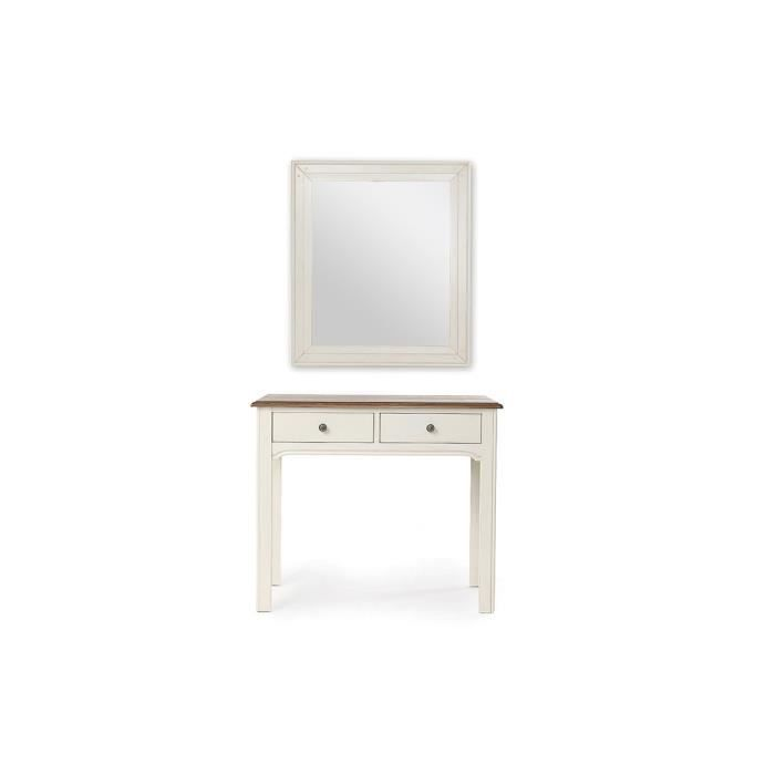 console coiffeuse avec miroir baroque blanc cass gustave achat vente console gustave. Black Bedroom Furniture Sets. Home Design Ideas