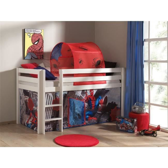 tente tunnel pour lit enfant mezzanine spider achat vente tente de lit tente tunnel. Black Bedroom Furniture Sets. Home Design Ideas