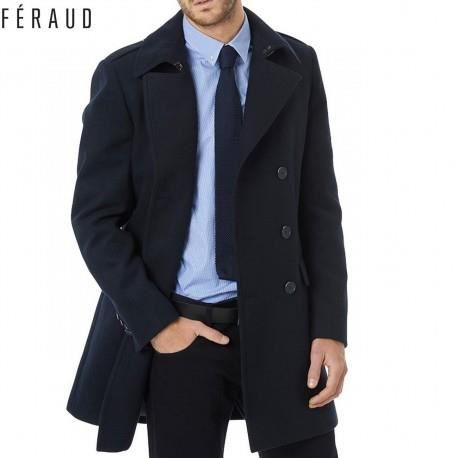 trench coat long homme louis feraud marine bleu achat vente imperm able trench cdiscount. Black Bedroom Furniture Sets. Home Design Ideas
